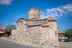 圣约翰施洗约翰教堂在Nessebar,保加利亚。 免版税库存照片