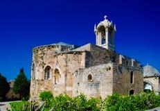 圣约翰标记运动时代教会在朱拜勒,黎巴嫩 图库摄影