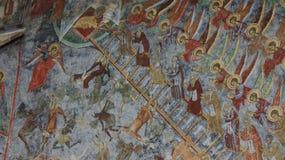 圣约翰梯子Sucevita修道院的在罗马尼亚 库存照片