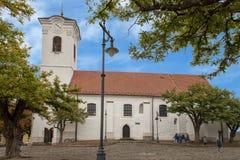 圣约翰浸礼会宽容教区教堂,Szentendre,匈牙利 图库摄影