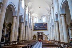 圣约翰浸礼会教友都灵大教堂内部  库存照片