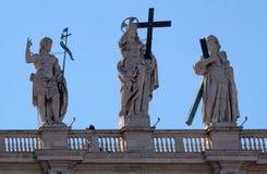 圣约翰浸礼会教友,耶稣,圣安德鲁 免版税库存照片