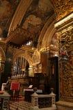 圣约翰的共同大教堂在瓦莱塔,马耳他 免版税库存图片