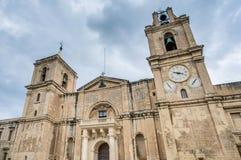 圣约翰的共同大教堂在瓦莱塔,马耳他 图库摄影