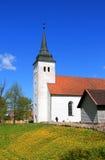 圣约翰的教会在维尔扬迪 免版税图库摄影