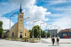 圣约翰的教会,大路德教会的教区教堂在塔林, Esto 免版税库存图片