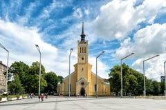 圣约翰的教会,大路德教会的教区教堂在塔林, Esto 免版税库存照片
