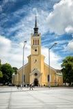 圣约翰的教会,大路德教会的教区教堂在塔林, Esto 图库摄影