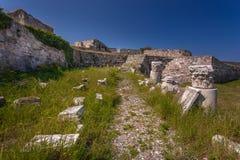 圣约翰的骑士的城堡浸礼会教友, Kos海岛,希腊 免版税库存图片