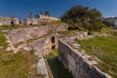 圣约翰的骑士的城堡浸礼会教友, Kos海岛,希腊 库存图片