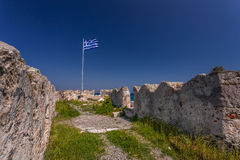 圣约翰的骑士的城堡浸礼会教友, Kos海岛,希腊 库存照片
