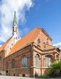 圣约翰著名中世纪教会在老市里加,拉脱维亚,欧洲 库存照片