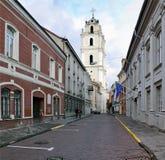 圣约翰街道在维尔纽斯 免版税库存照片