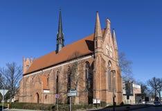 圣约翰,新勃兰登堡,梅克伦堡西Pomerani教会  免版税库存图片