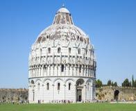 圣约翰洗礼池奇迹正方形的,比萨意大利 免版税库存图片
