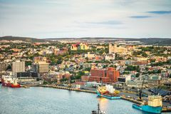 圣约翰` s都市风景,纽芬兰与拉布拉多首都, 库存照片