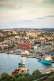 圣约翰` s都市风景,纽芬兰与拉布拉多首都, 免版税库存图片