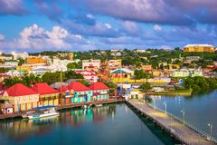 圣约翰` s,安提瓜岛 免版税图库摄影