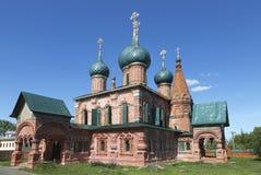 圣约翰Chrysostom教会在Korovniki 俄国yaroslavl 图库摄影