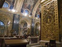 圣约翰Co大教堂在马耳他 库存图片