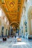 圣约翰Lateran大教堂在罗马,意大利 免版税库存照片