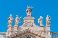 圣约翰Lateran Archbasilica在罗马,意大利 图库摄影