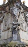 圣约翰Nepomuk, 18世纪纪念碑, Ostrow Tumski,克拉科夫,波兰雕象  免版税库存照片