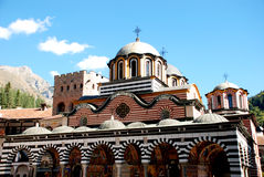 圣约翰Rilski, Rila山,保加利亚修道院  库存照片