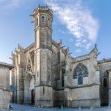 圣纳泽尔大教堂在卡尔卡松 库存照片