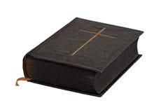 圣经书葡萄酒白色 免版税库存照片