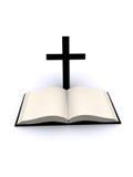 圣经交叉 免版税库存图片