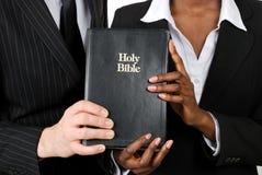 圣经企业夫妇藏品 免版税库存图片