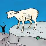 圣经故事-漫步的绵羊的寓言 免版税库存照片