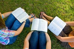 圣经朋友研究 免版税库存图片