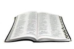 圣经查出的葡萄牙宽 库存照片