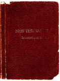 圣经老盖子皮革 免版税库存照片