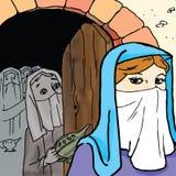 圣经-十个贞女的寓言 免版税库存图片