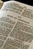 圣经nehemiah系列 免版税库存照片