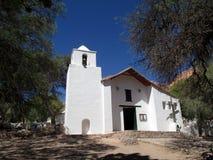 圣罗莎de利马Purmamarca Jujuy阿根廷老教会  库存照片