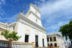 圣胡安包蒂斯塔,圣胡安,波多黎各大教堂  免版税图库摄影