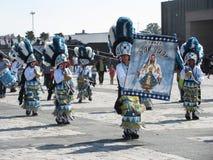 圣胡安在La别墅的舞蹈小组 免版税库存照片
