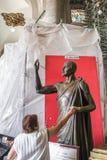 圣胡安地亚哥雕塑在Gauda里面古老大教堂的  库存图片