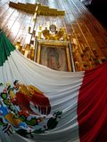 圣胡安地亚哥Ayate瓜达卢佩河大教堂的在墨西哥 免版税图库摄影