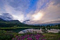 圣胡安山的小的Molas湖在科罗拉多 免版税库存照片