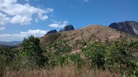 圣胡安德洛斯莫罗斯,委内瑞拉山  免版税库存图片
