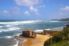圣胡安海岸线,波多黎各 免版税库存照片