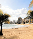 圣胡安海滩,波多黎各 免版税库存照片