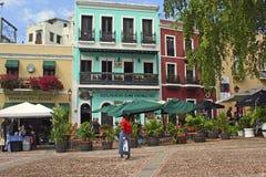 圣胡安街道,波多黎各 免版税图库摄影