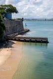 圣胡安,波多黎各海岸  库存图片