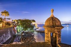 圣胡安,波多黎各海岸 免版税库存照片
